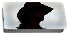 Cowgirl In The Sky Portable Battery Charger