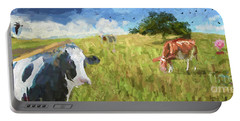 Cows In Field, Ver 2 Portable Battery Charger