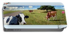 Cows In Field, Ver 4 Portable Battery Charger
