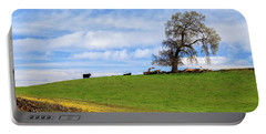 Cows On A Spring Hill Portable Battery Charger by James Eddy