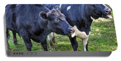 Cows Sticking Out Tongues Portable Battery Charger