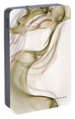 Portable Battery Charger featuring the photograph Coy Lady In Hat Swirls by Vicki Ferrari