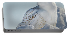 Portable Battery Charger featuring the photograph Coy Snowy Owl by Rikk Flohr