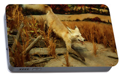 Portable Battery Charger featuring the digital art Coyote  by Chris Flees