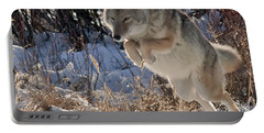 Coyote In Mid Jump Portable Battery Charger