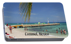 Portable Battery Charger featuring the photograph Cozumel Mexico by Gary Wonning