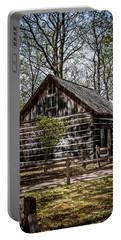 Cozy Cabin Portable Battery Charger by Joann Copeland-Paul