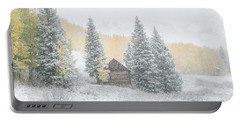 Cozy Cabin Portable Battery Charger by Kristal Kraft