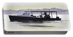 Crab Boat Slick Calm Day Chesapeake Bay Maryland Portable Battery Charger