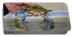 Portable Battery Charger featuring the painting Crab Fingers by Phyllis Beiser