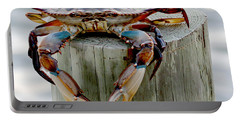 Crab Hanging Out Portable Battery Charger by Luana K Perez