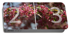 Crabapple In Spring Panoramic Map Portable Battery Charger
