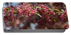 Crabapple In Spring Panoramic Portable Battery Charger
