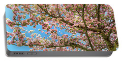 Portable Battery Charger featuring the photograph Crabapple Tree Pink Spring Blossoms by James BO Insogna