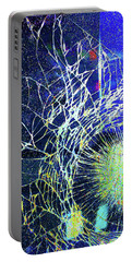Portable Battery Charger featuring the mixed media Crack by Tony Rubino
