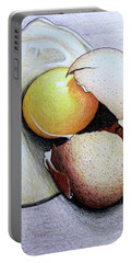 Cracked Egg Portable Battery Charger by Mary Ellen Frazee