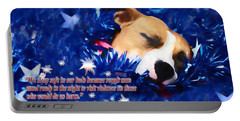 Portable Battery Charger featuring the photograph Cradled By A Blanket Of Stars And Stripes - Quote by Shelley Neff