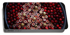 Cranberry Christmas Tree Portable Battery Charger