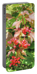 Cranberry Cluster Portable Battery Charger by Jim Sauchyn
