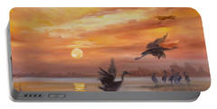 Cranes - Golden Sunset Portable Battery Charger