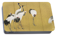 Cranes Portable Battery Charger by Maruyama Okyo