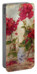 Crapemyrtles And Little Blue Vase Portable Battery Charger