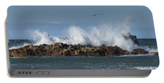 Crashing Waves And Gulls Portable Battery Charger
