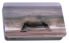 Portable Battery Charger featuring the photograph Crashing Waves In Rehoboth by Rob Sellers