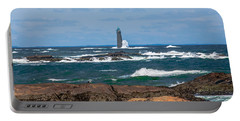 Crashing Waves On Minot Lighthouse  Portable Battery Charger