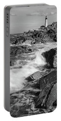 Crashing Waves, Portland Head Light, Cape Elizabeth, Maine  -5605 Portable Battery Charger