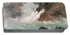 Crashing Waves Seascape Art Portable Battery Charger