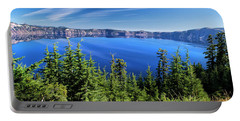 Portable Battery Charger featuring the photograph Crater Lake Rim Reflections by Frank Wilson