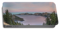 Crater Lake Sunset Portable Battery Charger