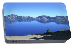 Portable Battery Charger featuring the photograph Crater Lake by Tony Mathews