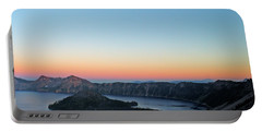 Crater Lake Twilight Portable Battery Charger