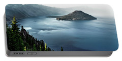 Crater Lake Under A Siege Portable Battery Charger