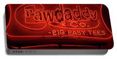 Craw Daddy Neon Sign Portable Battery Charger by Steven Spak