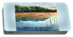 Portable Battery Charger featuring the painting Crawford Lake Nature Estates by LeAnne Sowa