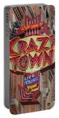 Portable Battery Charger featuring the photograph Crazy Town by Stephen Stookey