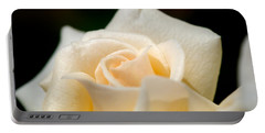 Cream Rose Kisses Portable Battery Charger