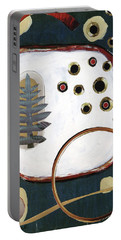 Portable Battery Charger featuring the painting Creation by Michal Mitak Mahgerefteh