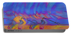 Portable Battery Charger featuring the digital art Creative Motion by Linda Sannuti