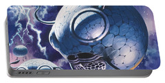 Creatures In Outer Space  Portable Battery Charger by Wilf Hardy