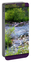 Portable Battery Charger featuring the photograph Creek Daisys by Susan Kinney