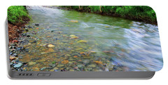 Creek Of Many Colors Portable Battery Charger by Donna Blackhall