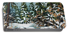 Creek, Winter, Snow Portable Battery Charger