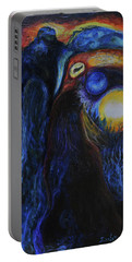 Portable Battery Charger featuring the painting Creeping Plague by Christophe Ennis