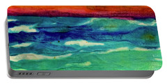 Crepe Paper Sunset Portable Battery Charger