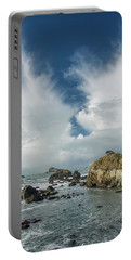 Crescent City Coast And Clouds Portable Battery Charger by Greg Nyquist