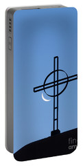Crescent Moon And Cross Portable Battery Charger